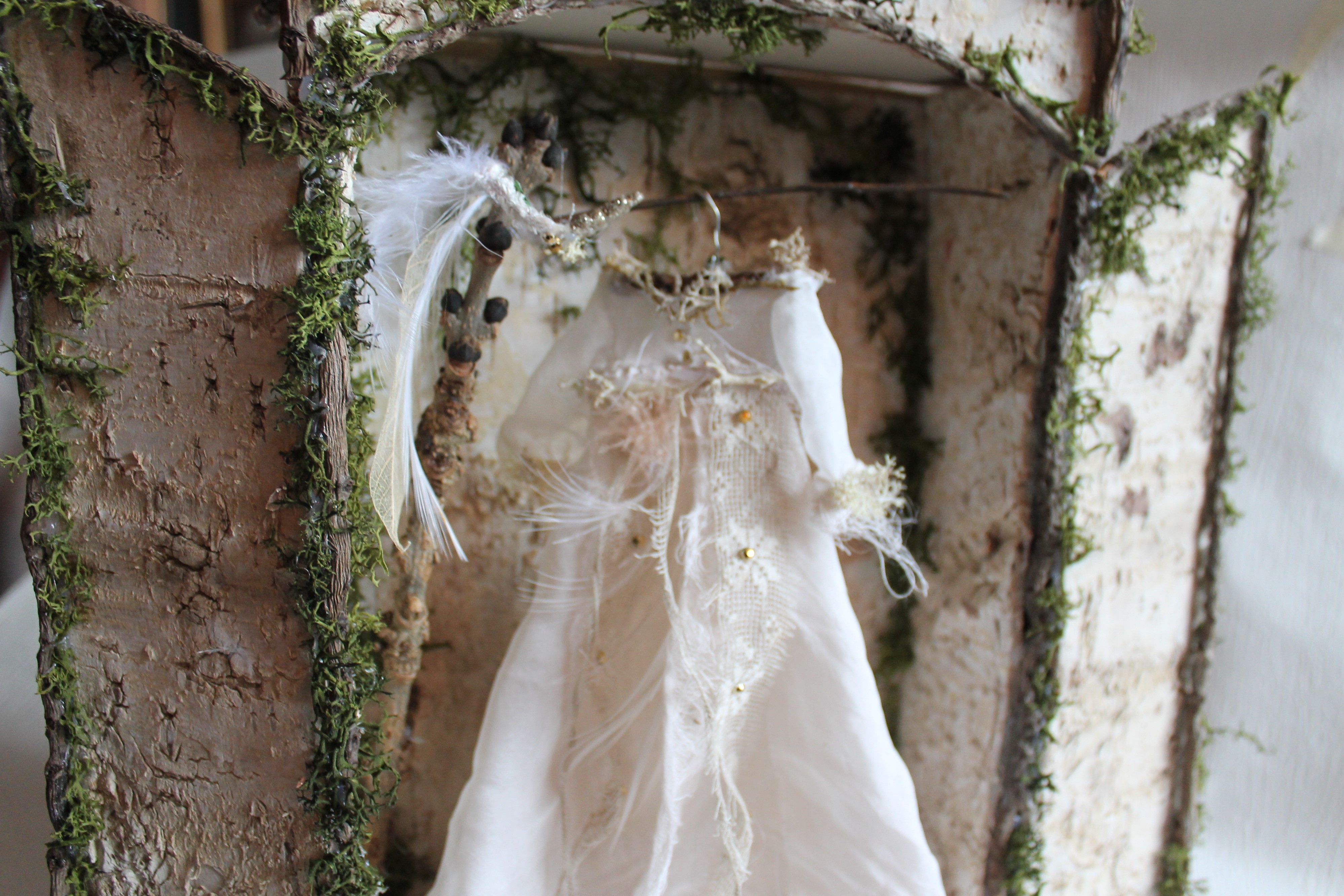 A fairy dress framed by a small doorway